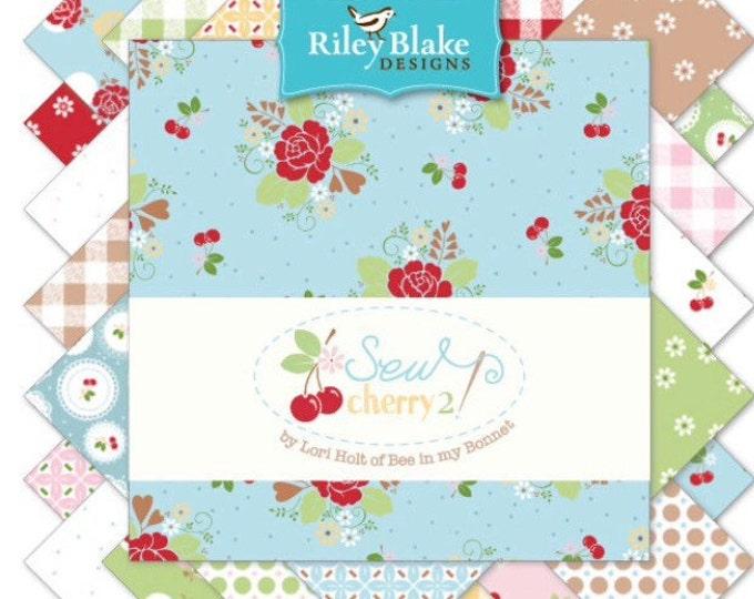 Featured listing image: Sale-  Lori Holt Sew Cherry 2 - Fat Quarter Bundles