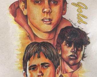 The Outsiders Stay Gold original drawing. Fan-art Ponyboy Curtis