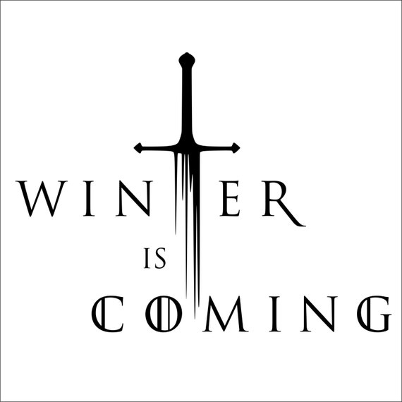 Winter is coming game of thrones vinyl decal 2 pack
