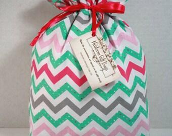 Cloth Gift Bags Fabric Gift Bags Reusable Handmade Medium Size Bag Childrens Birthday Baby gift