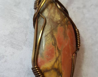 Cherry Creek Jasper Cabochon Necklace