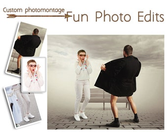 Photomontage, Funny photo editor, Funny Photoshop, Photo Collage, Photo montager Custom service, Personalized gifts