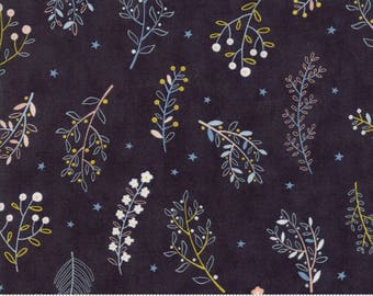 Wild and Free - Wild Flowers in Midnight by Abi Hall for Moda - 35316 12
