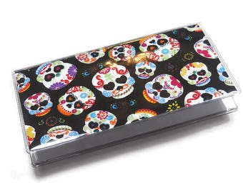 Checkbook Cover Skulls