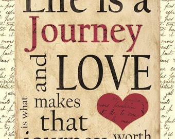 Life is a Journey Inspirational Plaque