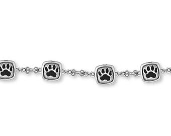 Dog Paw Bracelet Jewelry Sterling Silver Handmade Dog Bracelet PW15-BR