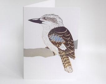 Kookaburra Card, Greeting Card, Bird Art Card, Australian Bird, Bridget Farmer Cards