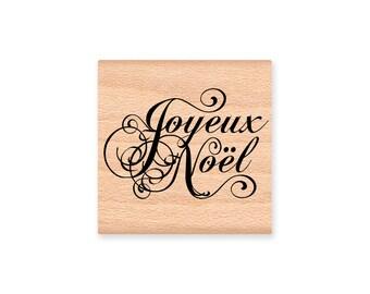 JOYEUX NOEL-Wood Mounted Rubber Stamp (mcrs 26-03)