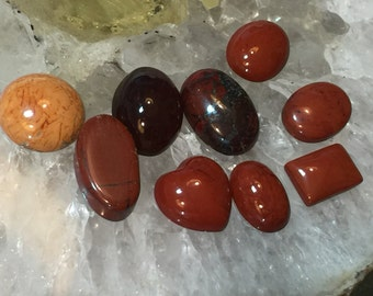 Jasper & Agate Mix Lot Awesome Gorgeous Color Cabochons Perfect For Earrings