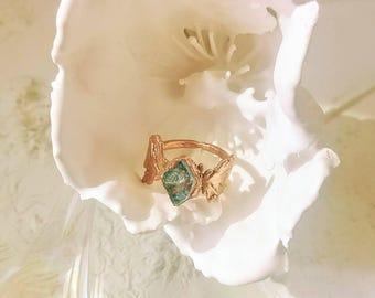 Electroformed Botanical Ring Copper - Christine