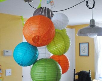 Customizable Large Paper Lantern Balloon Mobiles