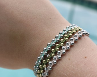 CUSTOMIZABLE Track Bead Style Waterproof String Adjustable Bracelet, Birthday/Wedding Party Favors, Friendship Bracelet, Gift, Surfing, Swim