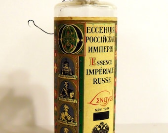 Vintage 1930s Essence Imperial Russe by Lengyel 6 oz Eau de Cologne Splash EMPTY PERFUME Bottle