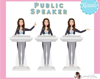 Public Speaker | Lecturer Clip Art Logo | Professor | Motivational Speaker | Principal Avatar | Politician Website | Graduation Graphic
