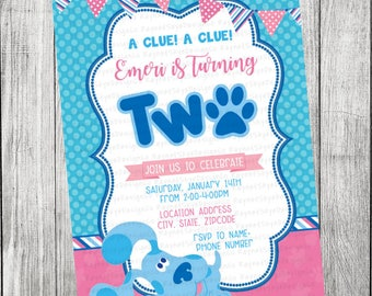 Blues Clues Invitation