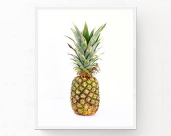 Pineapple Wall Art - Pineapple Print, Tropical Print, Digital Download, Pineapple Printable, Tropical Poster, Pineapple Picture Hawaii Decor