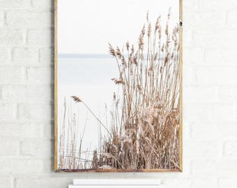 Instant download printable art, river print, river poster, reed print, large printable poster, reed printable, river wall art, photography