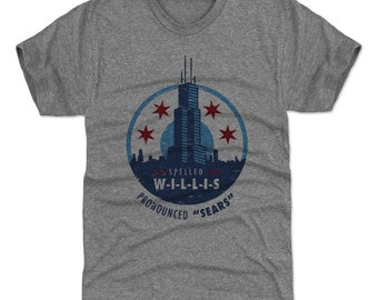 Chicago Shirt | Destinations & Illinois | Men's Premium T-Shirt | Willis Tower Pronounced Sears