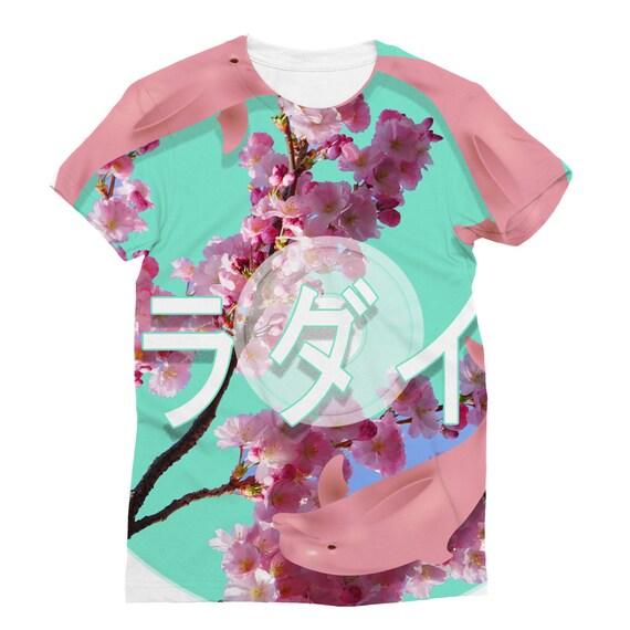 シ Vaporwave Aesthetic Original Deep Thought Unisex Double Sided Sublimation Printed T-Shirt シ jTPds