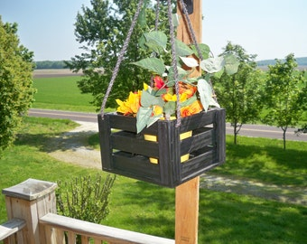 Hanging Planter,Outdoor Hanging Planter, Hanging Plant,Indoor Hanger Planter,Wood Hangng Flower Pot Planter Indoor and Outdoor use