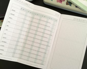 Monthly TN Insert - Monthly Traveler's Notebook Insert - 2018 Traveler's Notebook Insert - Traveler's Notebook Insert - TN printables