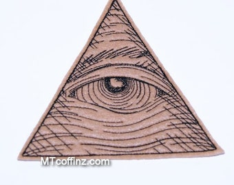 Eye of Providence Pyramid Iron On Embroidery Patch MTCoffinz - Large