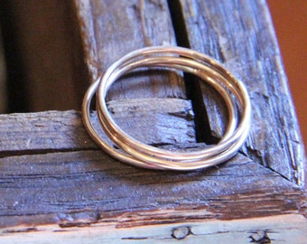 Three Everyday Gold Stacking Rings- Free Shipping, gold rings, gold knuckle rings