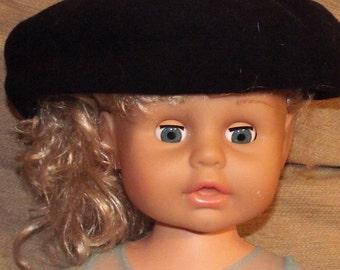 Two Vintage Black Berets. Black wool beret. Bulgarian beret. Bulgarian black hat. Old beret - Black beret - Vintage painter beret