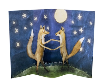 3D Pop Up Card - Fox Dance
