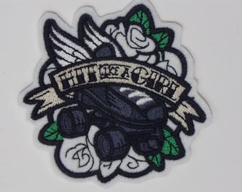 Sport Iron-On Patch. Embroidered Patch. Sew-on Patch. Glue-on Patch. Roller Derby ON WHITE BACKGROUND Patch