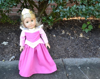 18 inch Doll Clothes -  Princess Dress - Formal Fancy - Pink - MADE TO ORDER - fits American Girl