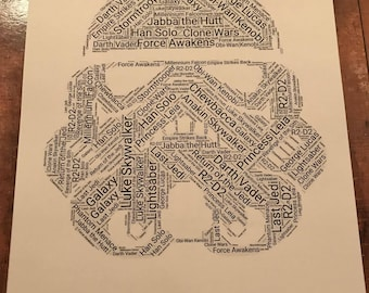 Stormtrooper Star Wars Word Art