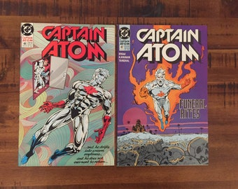 1990 Captain Atom #41 and #47 Comic Books/ DC Comics/ Buy One or Both For a Discounted Price!!!