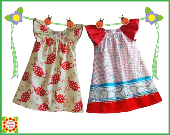 Cecilia Sewing PATTERN for Children + Free Mother-Daughter Apron ...