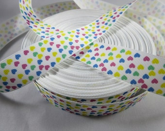 """Small Heart Valentine's Day Ribbon, Valentine's 1"""" Ribbon by the yard, RN14659"""