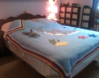Queen size dolphin blanket plus extra