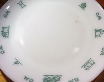 Vintage O & M Federal Glass Plate
