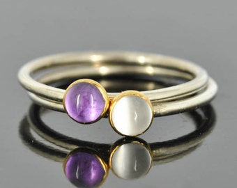 Moonstone ring, Gold bezel, gemstone ring, stacking ring, april birthstone ring, eco friendly ring, bridesmaid gift, best friend ring