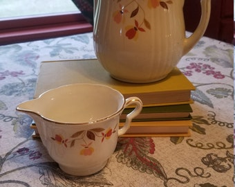 1950's Hall Autumn Leaf Pitcher and Creamer