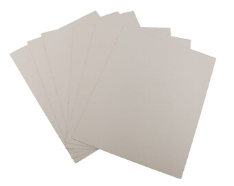 "8.5x11 White & Brown Chipboard Sheet Cardboard Scrapbooking Scrapbook Pads 22pt 8.5"" x 11"" *FREE SHIPPING!* WHCB(8.5x11) 1"