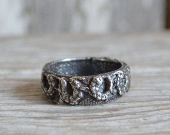 Victorian Lace Ring No. 4 Sterling Silver Ring, Bronze Ring, Promise Ring, Engagement Ring, Stackable Rings, Recycled, Sale, Gift fore Her