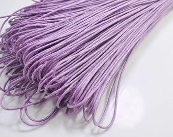 1.5mm Lavender Waxed Cotton Cord, 25 metres/50 metres Lavender Macrame Cord, Cotton Cording, Braided Cotton Cord, Jewelry Cord, GD172