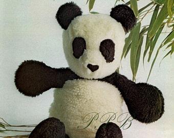 Panda Sewing Pattern ... Soft Toy Pattern ... PDF Sewing Pattern ... Cuddly Panda Bear ... Digital Download ... Stuffed Toy Bear