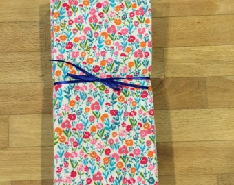 Large Reusable Cloth Napkins  / Everyday Flannel Table Napkins - Set of 6