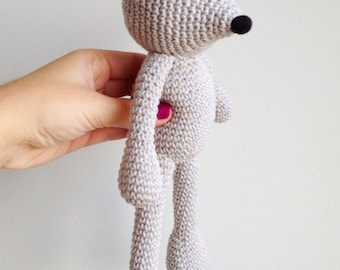 Mouse Plush, Mouse Stuffed Animal, Mouse Plushie, Mouse Stuffed Toy, Crochet Mouse