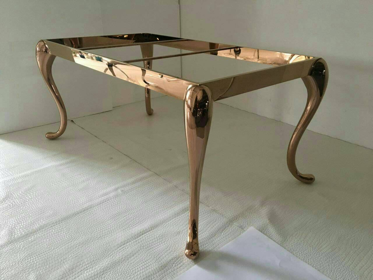 Metal Dining Table Legs For Sale Solid Rose Gold Metal Table