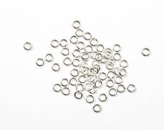 500 rings silver dark, 3mm open jump rings