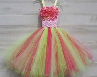 Flower girl dress - tutu dress - tulle dress - Tutu Dress - Girls/Youth/Toddler Dress - Pageant dress - Princess dress- First Birthday Dress