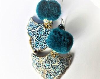 Prussian blue earrings
