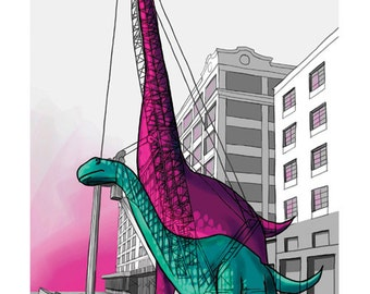 Dinos/Cranes -- The Animals Everywhere Series, Print, 8x10